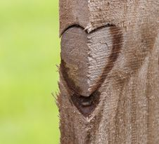Free Heart On Wood Fence Royalty Free Stock Photography - 32185347