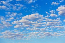 Free White Clouds In Blue Sky Royalty Free Stock Image - 32199076