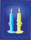 Free Two Candles Lighted Royalty Free Stock Photography - 3229467
