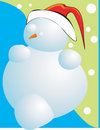 Free Snowman As Santa Clause Royalty Free Stock Image - 3229566