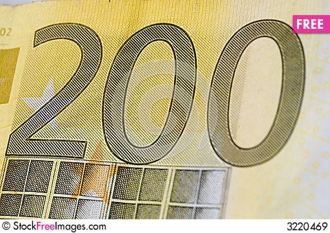 Free Two Hundred Euro Royalty Free Stock Images - 3220469