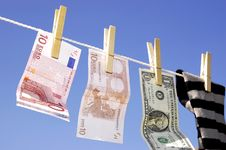 Money Laundering Royalty Free Stock Photography