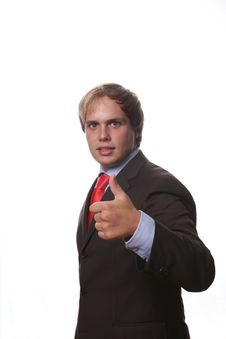 Free Business Man Showing Thumb Up Stock Photography - 3221252