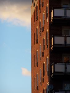 Free Side Of Building On Sunny Day Stock Photos - 3221403