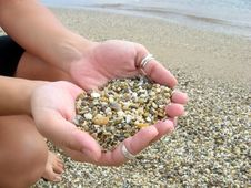 Free Hands With Pebbles Stock Photo - 3222100
