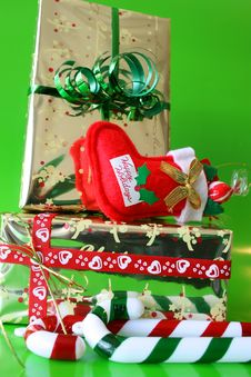 Free Christmas Gifts Royalty Free Stock Photo - 3222855