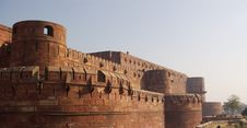 Free Agra Fort Walls Royalty Free Stock Photography - 3223197