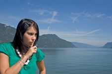 Free Woman Asking For Silence Stock Photography - 3224152