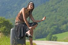 Free Woman Making Of Hitch-hiking Stock Photography - 3224162