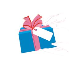 Free Woman S Hand Holding Gift Box Stock Photos - 3224163
