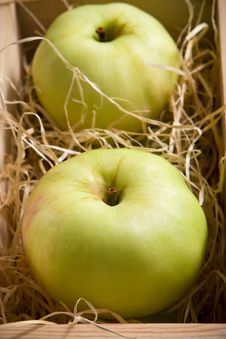 Free Green Apples In The Box Royalty Free Stock Images - 3224209