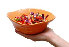 Free Vegetable Salad In Plate Royalty Free Stock Photo - 3225035