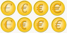 Free Euro In 6 Different Typefaces Royalty Free Stock Photography - 3226157
