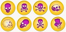 Six Medals With Skulls Royalty Free Stock Images