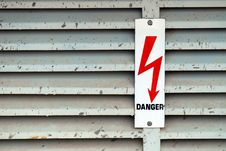 Free Danger Sign Royalty Free Stock Photography - 3227137
