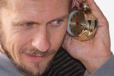 Free Listening Alarm Clock Royalty Free Stock Photo - 3228015