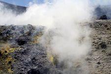 Volcano In Aeolian Islands Stock Images