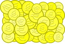 Free Euro Coins Royalty Free Stock Image - 3228696