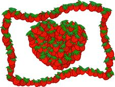 Free Strawberry Heart Royalty Free Stock Photography - 3228747