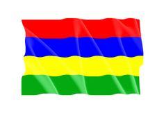 Mauritius Flag Royalty Free Stock Photo