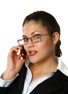 Free Business Woman Talking Phone Royalty Free Stock Images - 3228899