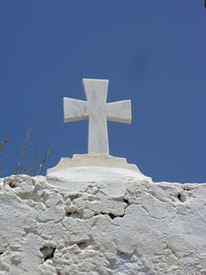 Free Cross On Santorini Stock Images - 3228974