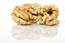 Free Walnuts Close Up Isolated Royalty Free Stock Photo - 3229075