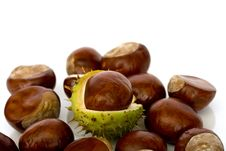 Free Chestnuts Close Up Isolated Stock Images - 3229164