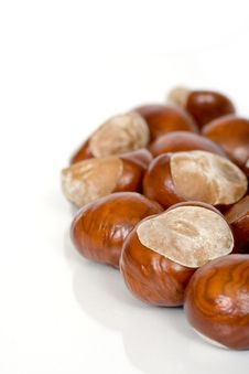 Free Chestnuts Close Up Isolated Royalty Free Stock Photography - 3229177