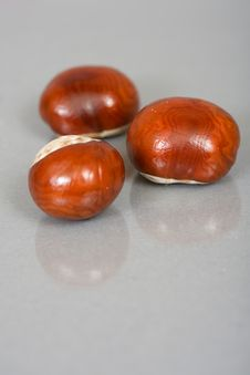 Free Chestnuts Close Up Isolated Stock Photography - 3229202