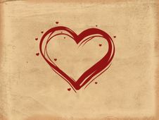 Free Old Paper Heart Stock Photo - 3229330