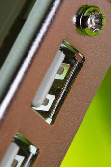 Free USB Socket Stock Image - 3229341
