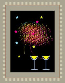 Free Two Glasses Of Wine Stock Images - 3229394