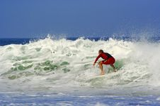 Free Surfer Doing A Maneuver Stock Photography - 3229412
