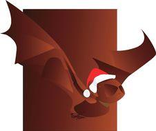 Free Bat With Santa Clause Cap Stock Photography - 3229512