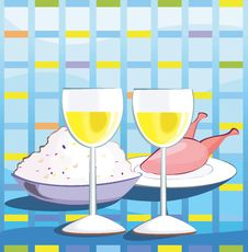 Wine And Foods Royalty Free Stock Photos