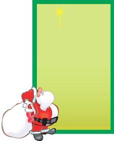 Free Santa Claus With Gift Bundle Royalty Free Stock Image - 3229636