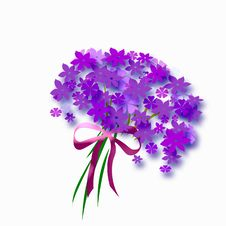 Flower Bouquet With Bow Stock Photos