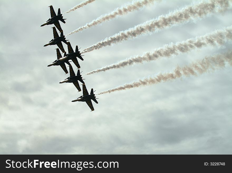 Blue  Angels F 18 Hornet