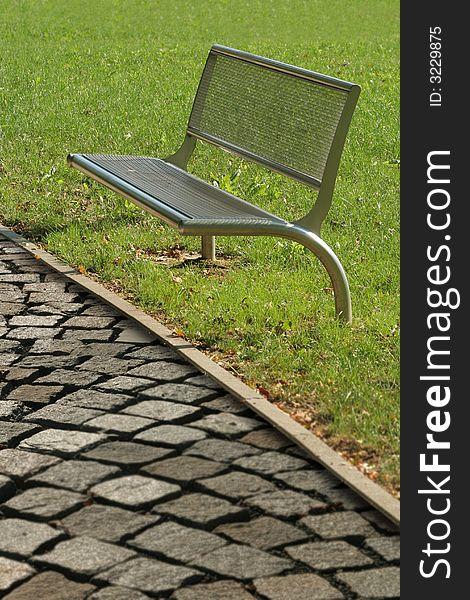 Metalic bench