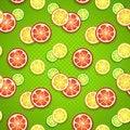Free Slices Of Fresh Citrus Fruits On Green Polka Dot Stock Photo - 32200940