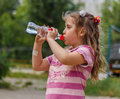 Free Girl Drinks Water Stock Photography - 32209382