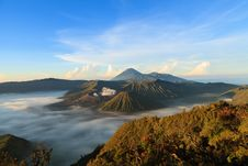 Free Bromo Mountain In Tengger Semeru National Park At Sunrise Royalty Free Stock Photos - 32200248