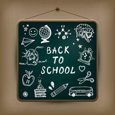 Free Hand-drawn School Set. Stock Image - 32205011