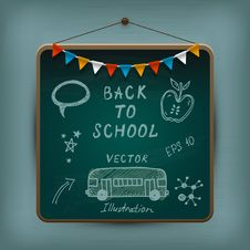 Free Hand-drawn School Set. Royalty Free Stock Photography - 32205067