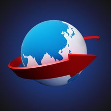 Free Arrow Around Earth Stock Images - 32207294
