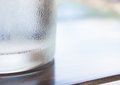 Free Cool Glass On Wooden Table And Dew Stock Photo - 32210990