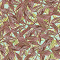 Free Watercolor Chestnut Brown And Green Leaves Seamles Royalty Free Stock Photos - 32214178