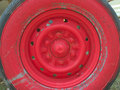 Free Old Red Wheel Royalty Free Stock Photo - 32218425