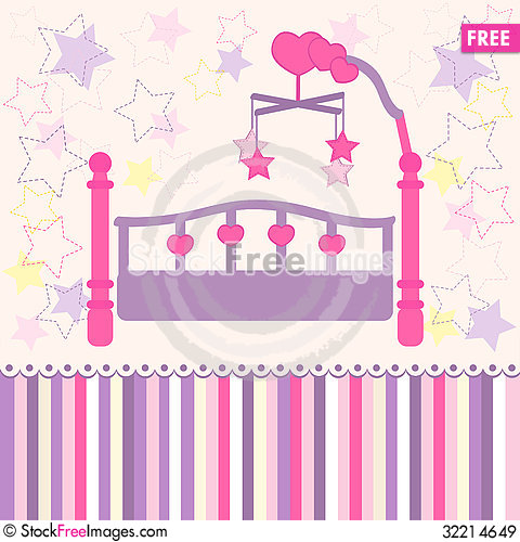 Free Baby Bed Royalty Free Stock Images - 32214649